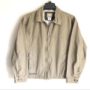 Men's Columbia khaki Canvas Jacket